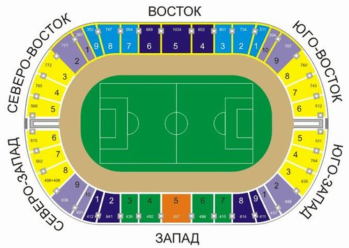 Стадион центральный казань схема 974
